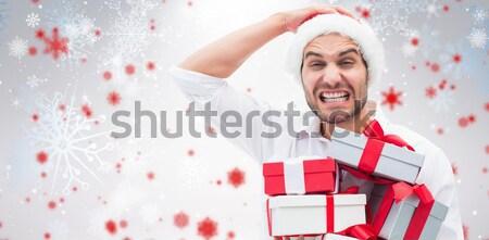 男 贈り物 白 ストックフォト © wavebreak_media