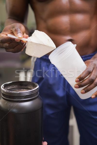 Corpo construtor escavar proteína Foto stock © wavebreak_media