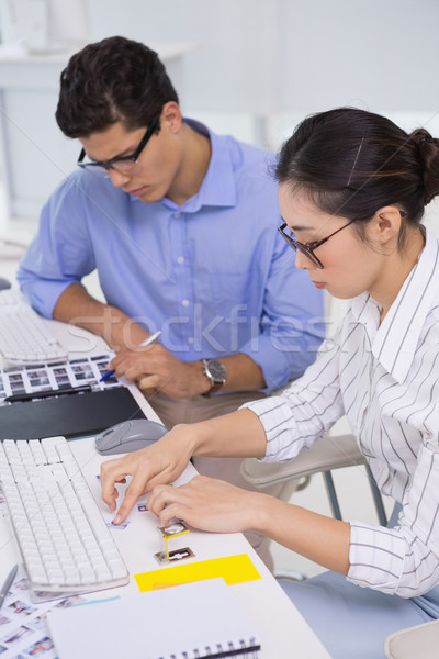 Stock photo: Creative team working at desk