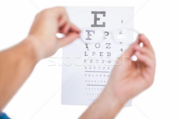 Mãos óculos branco Foto stock © wavebreak_media