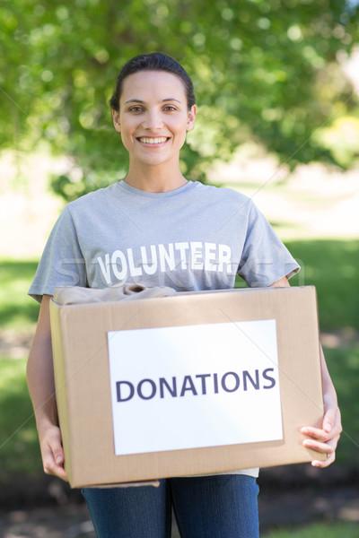 Dość wolontariusz darowizna polu parku Zdjęcia stock © wavebreak_media