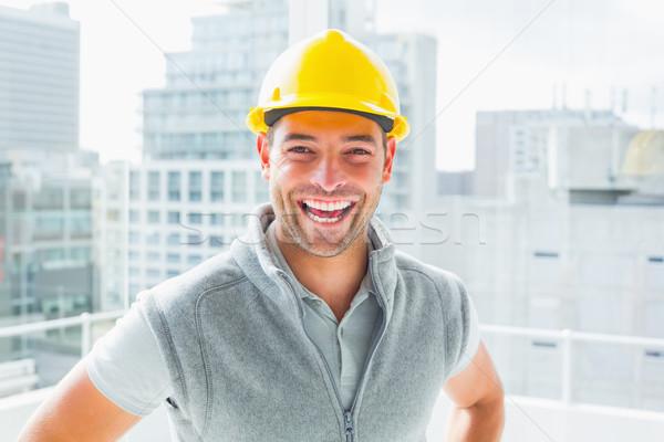 Photo stock: Portrait · bricoleur · bâtiments