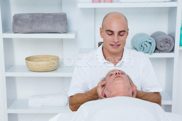 Uomo collo massaggio medici ufficio testa Foto d'archivio © wavebreak_media