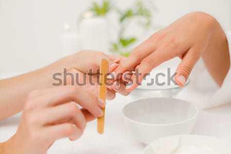 Clou technicien client manucure salon de beauté femme Photo stock © wavebreak_media