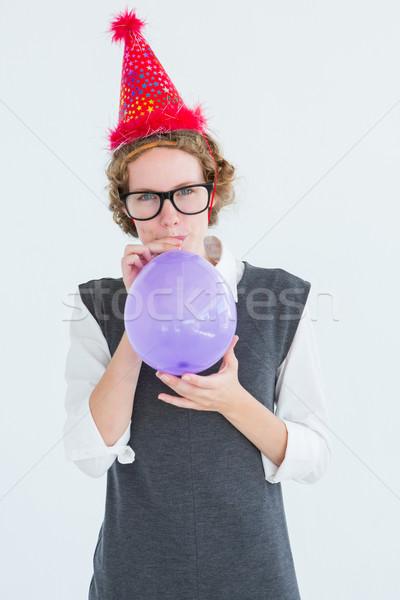 Hipster up Ballon weiß Party Stock foto © wavebreak_media