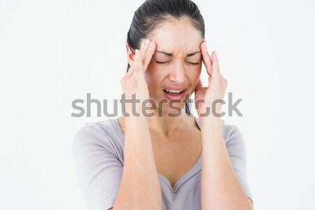 Barna hajú szenvedés migrén fehér nő egészség Stock fotó © wavebreak_media