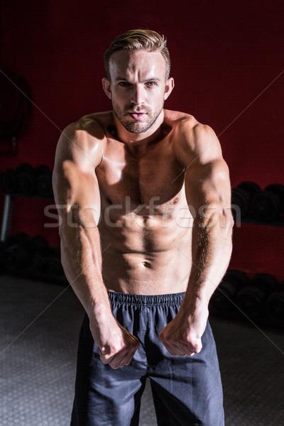 筋肉の 男 筋肉 影 健康 ジム ストックフォト © wavebreak_media