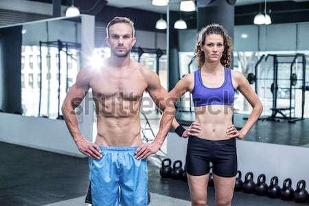 筋肉の カップル 一緒に 女性 ストックフォト © wavebreak_media