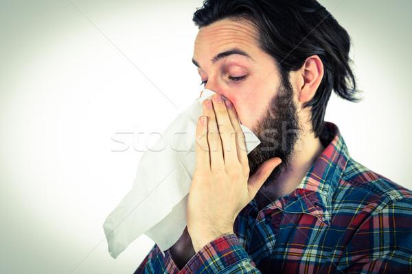 élégant moucher malade Homme Photo stock © wavebreak_media