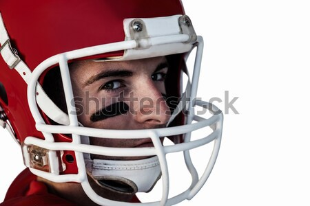 Man in helmet against dark grey background Stock photo © wavebreak_media