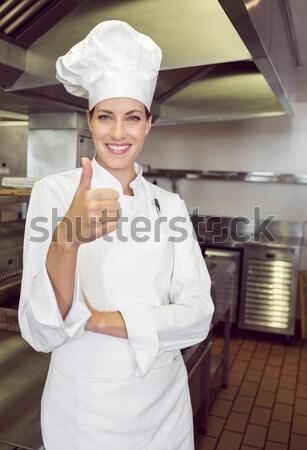 Chef permanent mains hanche commerciaux Photo stock © wavebreak_media