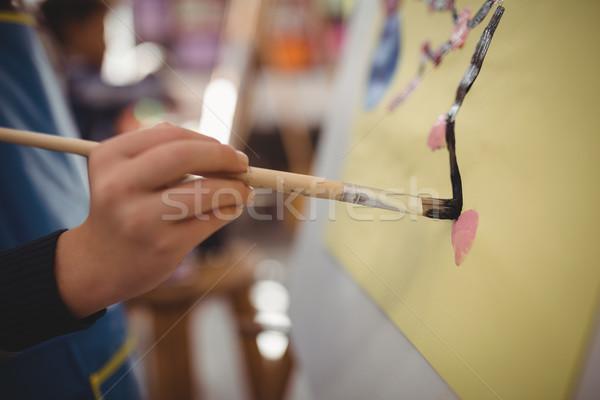 Colegial lienzo dibujo clase Foto stock © wavebreak_media