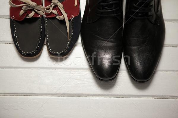 Overhead view of shoes on floor Stock photo © wavebreak_media