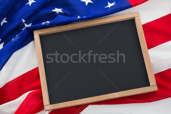 Amerikaanse vlag Blauw Rood zwarte patroon Stockfoto © wavebreak_media