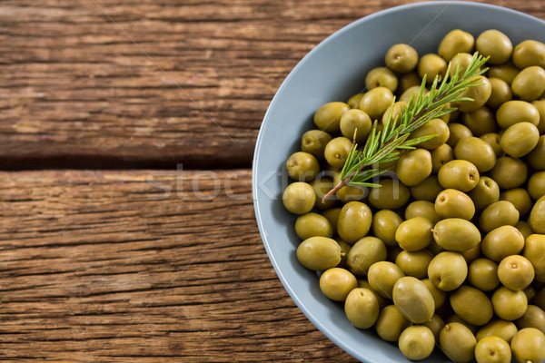 Close-up of garnished marinated olives in bowl Stock photo © wavebreak_media