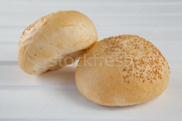 Dos mesa de madera primer plano alimentos pan sándwich Foto stock © wavebreak_media