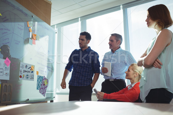 Thoughtful business colleagues looking at whiteboard in office Stock photo © wavebreak_media