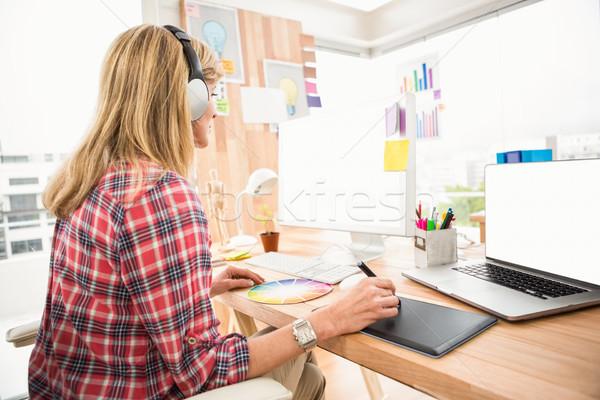 случайный дизайнера рабочих женщину служба дизайна Сток-фото © wavebreak_media