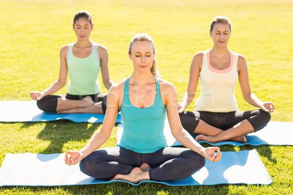 Paisible femmes Lotus posent femme Photo stock © wavebreak_media