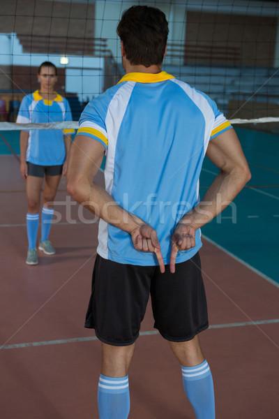 背面図 バレーボール プレーヤー 演奏 男性 ストックフォト © wavebreak_media