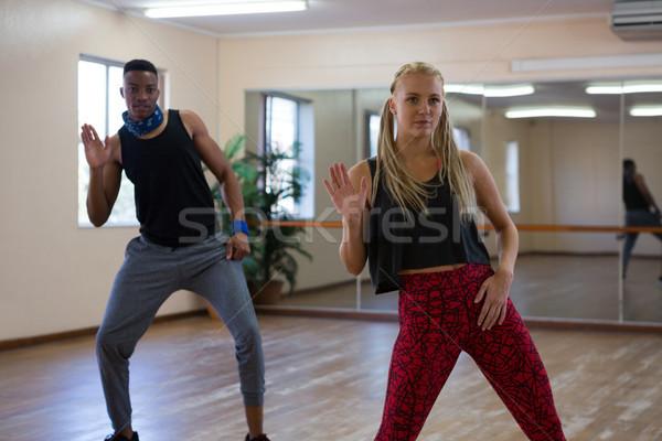 Danseurs miroir étage jeunes studio femme Photo stock © wavebreak_media