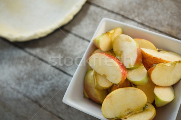 High angle view of apple slices in bowl Stock photo © wavebreak_media