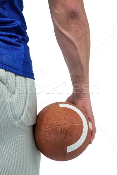 Primer plano americano futbolista pelota blanco Foto stock © wavebreak_media