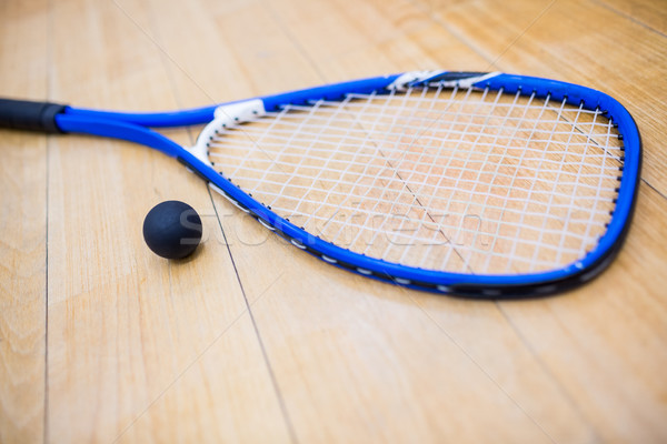 Close up of a squash racket and ball Stock photo © wavebreak_media