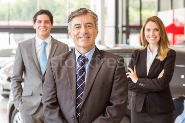 組 微笑 業務團隊 常設 一起 新車 商業照片 © wavebreak_media
