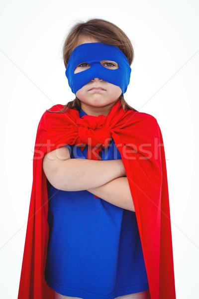 Masked girl pretending to be superhero Stock photo © wavebreak_media