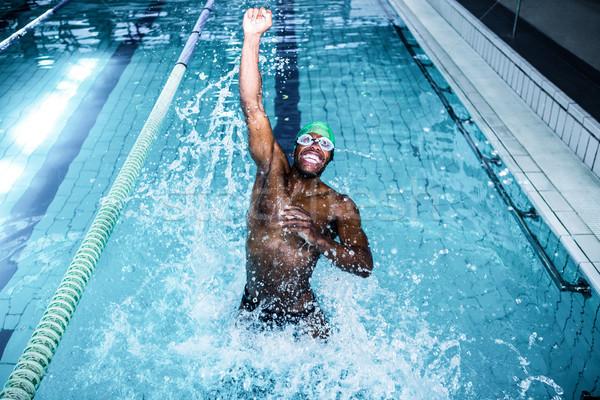 Geschikt man duiken zwembad recreatie centrum Stockfoto © wavebreak_media