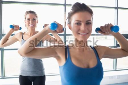 Człowiek trener kobieta high five crossfit Zdjęcia stock © wavebreak_media