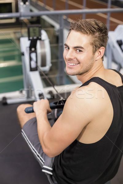 соответствовать человека рисунок машина спортзал счастливым Сток-фото © wavebreak_media