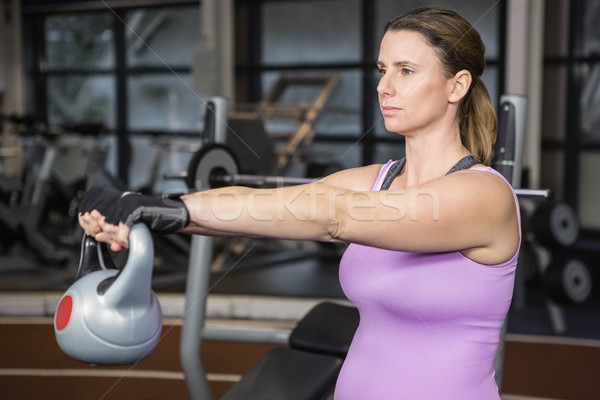 определенный женщину гири спортзал здоровья Сток-фото © wavebreak_media