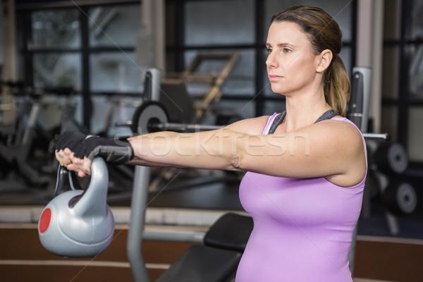 Determinado mulher ginásio saúde Foto stock © wavebreak_media