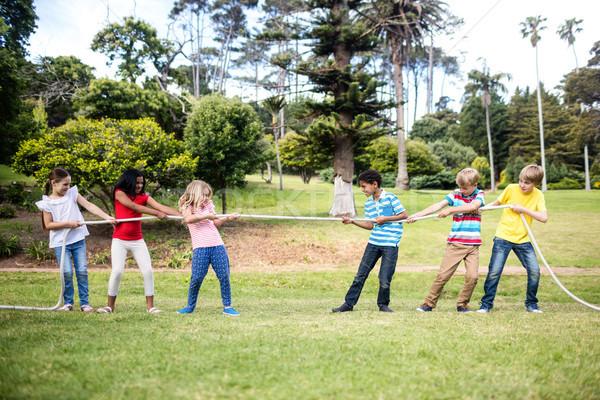 子供 ロープ 戦争 公園 幸せ ストックフォト © wavebreak_media