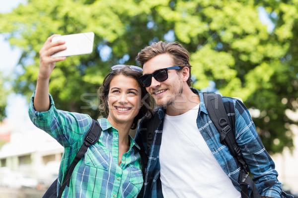 Young couple taking a selfie  Stock photo © wavebreak_media