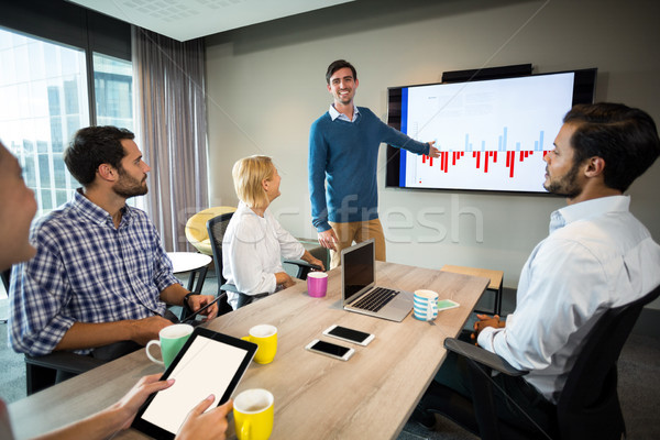 Business people discussing over graph during a meeting Stock photo © wavebreak_media