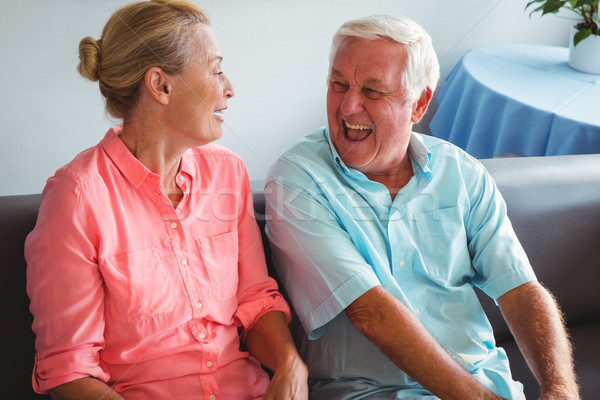 Lachend samen bejaardentehuis vrouw gelukkig Stockfoto © wavebreak_media