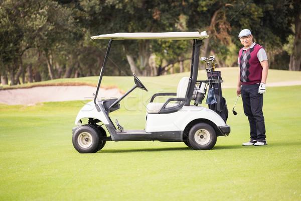 гольфист позируют гольф человека спорт зеленый Сток-фото © wavebreak_media