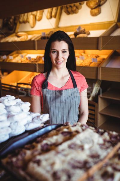 Portré női pék mosolyog pékség bolt Stock fotó © wavebreak_media