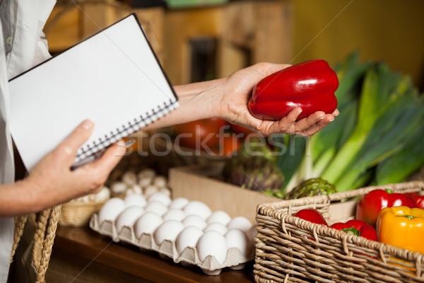Personal rot Paprika Abteilung Markt Stock foto © wavebreak_media