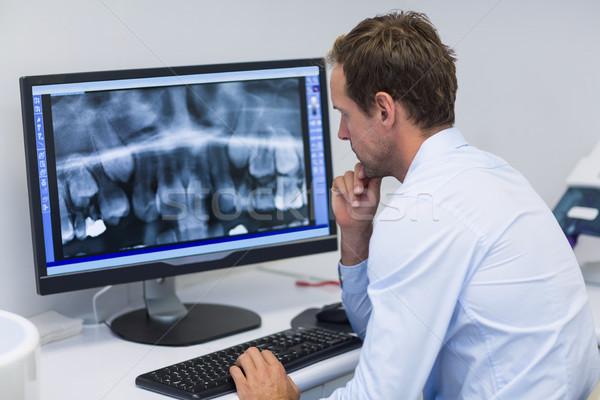 Dentysta xray komputera stomatologicznych kliniki Zdjęcia stock © wavebreak_media