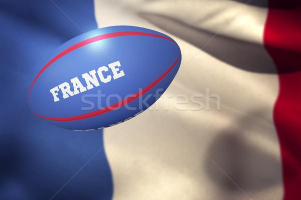 összetett kép Franciaország rögbilabda közelkép integet Stock fotó © wavebreak_media