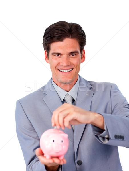Carismático empresário dinheiro branco Foto stock © wavebreak_media