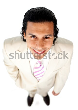 Attractive ethnic businessman holding a drinking cup Stock photo © wavebreak_media