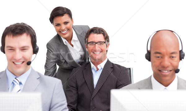 Ambiciózus vásárló hatóanyag csapat dolgozik iroda Stock fotó © wavebreak_media
