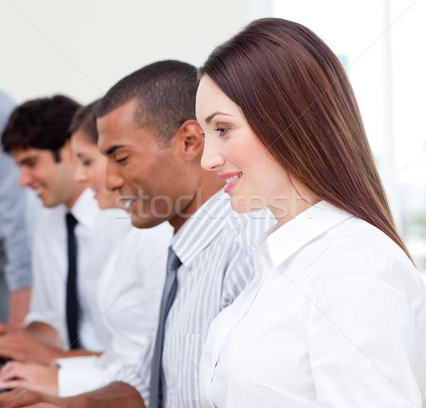 успешный бизнес-команды работу служба человека клавиатура Сток-фото © wavebreak_media