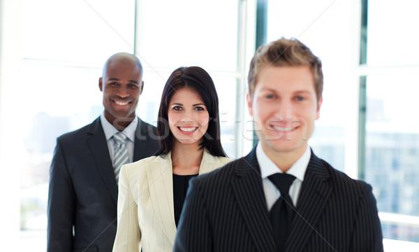 улыбаясь деловая женщина Focus команда брюнетка бизнеса Сток-фото © wavebreak_media