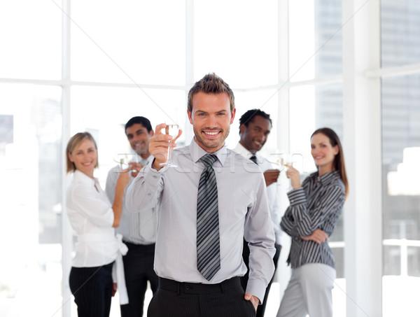 Portré férfi vezető csapat üzlet üzletember Stock fotó © wavebreak_media